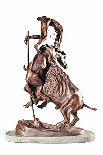 Frederic Remington Solid Bronze Buffalo Horse Statue Sculpture - Mini (Solid Bronze Horse)