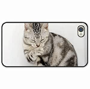 iPhone 4 4S Black Hardshell Case wash paw Desin Images Protector Back Cover by runtopwell
