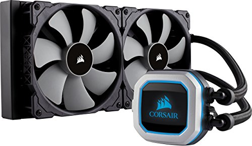Corsair Hydro Series H115i PRO RGB 280mm Radiator Dual 140mm ML Series PWM Fans Advanced RGB Lighting Liquid CPU Cooler (CW-9060032-WW) by Corsair
