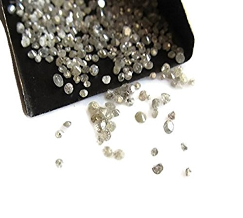 12 Pcs Aprox/Natural Rose Cut Diamond/Gray Raw Rough Uncut Diamond/3-2mm Each -D37 (Uncut Gems compare prices)