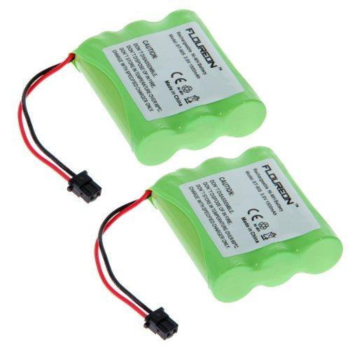 FLOUREON 2-Pack BT-905 3.6V 1500mAh Replacement Cordless Phone Battery for Uniden BT905 BBTY0663001 BBTY-0444001 BBTY-0449001