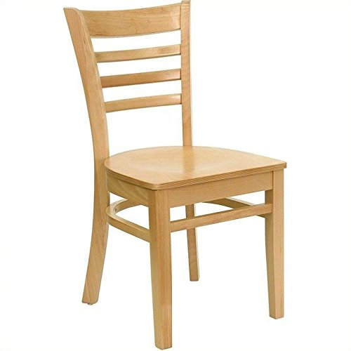 Natural 0.625' (Flash Furniture HERCULES Series Ladder Back Natural Wood Restaurant Chair)