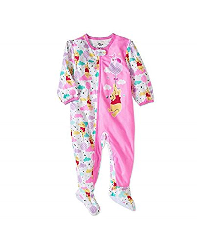 (AME Winnie The Pooh Newborn Micro Fleece Footed Pajama Baby Girls (Multi, 18 Months))