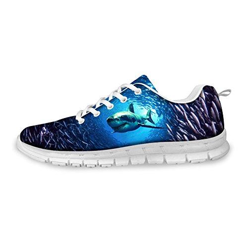 Women Shark Running Underwater Sport Animal Pattern Shoes Blue amp;Men Sneaker CHAQLIN vt5BSxqUwW