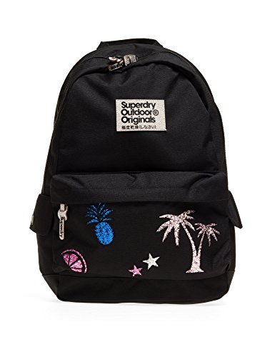 Superdry Women's Glitter Montana Women's Black Backpack Black by Superdry