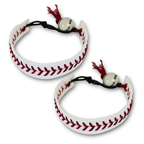 KnitPopShop Baseball Bracelet Gift Jewelry Mom Team Coach (2 - Baseball Leather Bracelet
