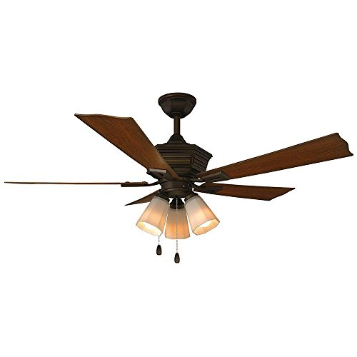 Pembroke 52 in. LED Indoor/Outdoor Oil-Rubbed Bronze Ceiling Fan with Light Kit