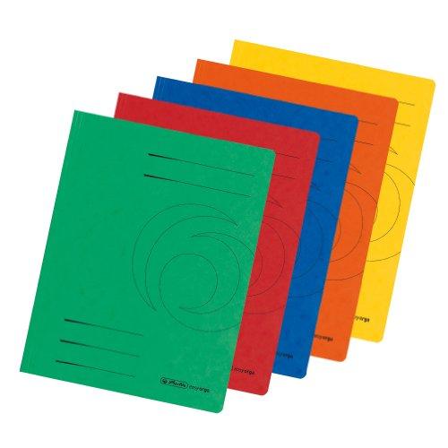 Herlitz 10902856 Einschlagmappe A4, Colorspan-Karton, 355 g/qm farbig sortiert