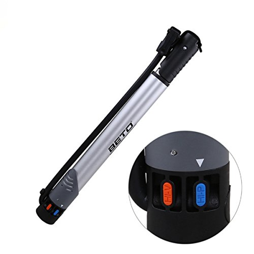 Aluminum Alloy Compact Lightweight Mini Portable Cycle Frame Bike Pump Floor Inflator Cycle Pump by LoveSheRainbow