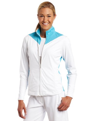 Nike Golf Women's Sport Tech Cover Up (White/Chlorine Blue, X-Small) by Nike Golf