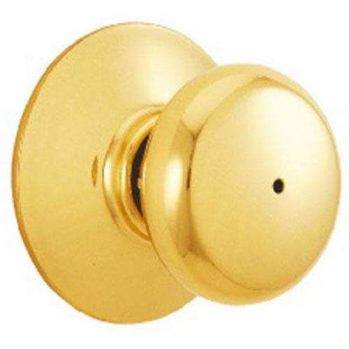 - Schlage F40PLY605 Plymouth Privacy Knob, Bright Brass