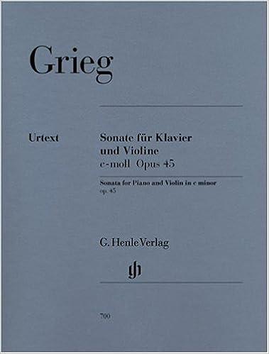 - Violon//Piano Sonate Opus 45 do mineur