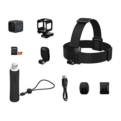 GoPro HERO5 Session Action Camera Bundle with Bonus Head Strap and QuickClip, Floating Hand Grip, 16GB MicroSD Card by GoPro