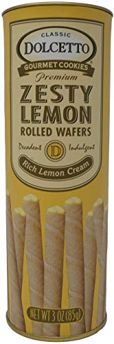 (Dolcetto Lemon Rolled Wafers 3 Oz. (Pack of 12))