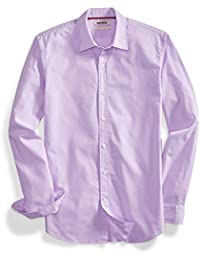 Men's Standard-Fit Long-Sleeve Solid Poplin Shirt