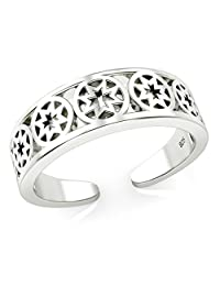 Sterling Silver Celtic Cross Adjustable Toe Band Ring
