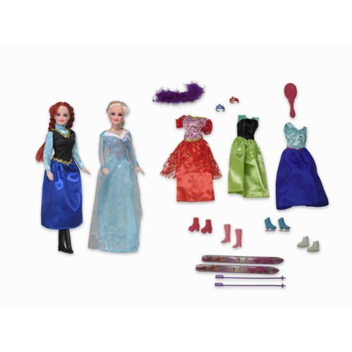 [Snow Princess Dolls Playset Winter Wonderland Outfits Accessories Skis] (Wonderland Outfit)