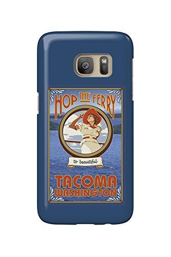Tacoma, Washington - Woman Riding Ferry (Galaxy S7 Cell Phone Case, Slim Barely - Women Tacoma