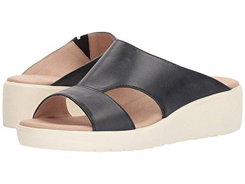 Johnston & Murphy Carly Black Waxy Sandals 7.5