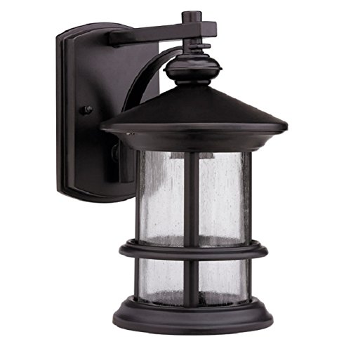 Rubbed Dark Bronze 1-light Outdoor Porch Front Wall or Fence Mounted Light Fixture Sconce by Transitional