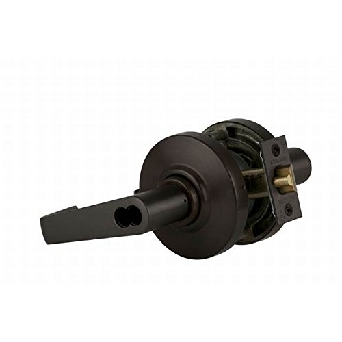 Schlage commercial AL50JDSAT613 AL Series Grade 2 Cylindrical Lock, Entry/Office Function Push Button Locking, Saturn Lever Design, Oil Rubbed Bronze Finish by Schlage Lock Company