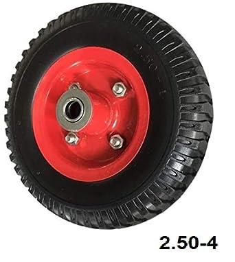 Rueda para carretilla neumática con Rodamiento 2:50-4 Plataformas Carros: Amazon.es: Industria, empresas y ciencia