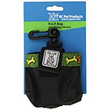 RC Pet Products Pick Up Poop Bag Carrier with Me Love Treats Pattern, Black