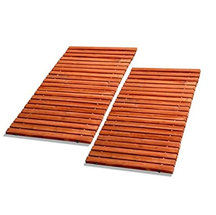 Genial Portable Wooden Walkway   Set Of 2   Straight (Redwood)