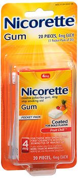 Nicorette Nicotine Polacrilex Gum 4 mg Cinnamon Surge - 20 ct, Pack of - Cinnamon Surge Gum