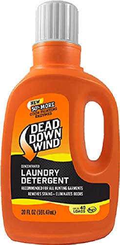 Dead Down Wind Laundry Detergent 20 oz - Odor Elimination for Hunting Gear - Unscented