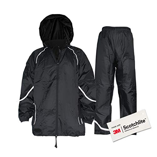 - Salzmann Waterproof Rainsuit with 3M Scotchlite Reflective Material
