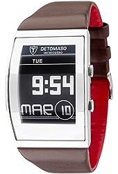 DETOMASO Men's DT2035-C INCHIOSTRO Ink Paper Watch  Trend mehrfarbig/braun Digital Display Japanese Quartz Brown Watch