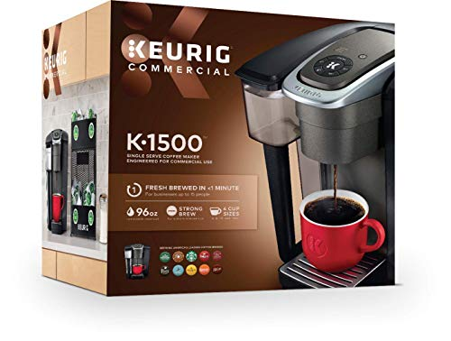 PureWater Filters bundle K1500 Commercial Single Serve Coffee Brewer by Keurig with 6 Charcoal Water Filters and Holder by PureWater Filters by PureWater Filters (Image #2)