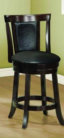 Monarch Specialties I 1288 Wood High Swivel Counter Stool, 39