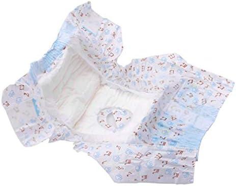 LJSLYJ 10ピースペットおむつ雌犬使い捨て漏れ防止おむつ子犬スーパー吸収生理用衛生パンツ、xxs
