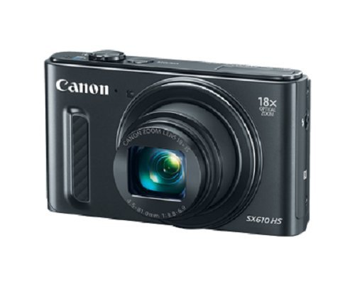 Canon 0111C001 PowerShot SX610 HS, Wi-Fi Enabled – Black