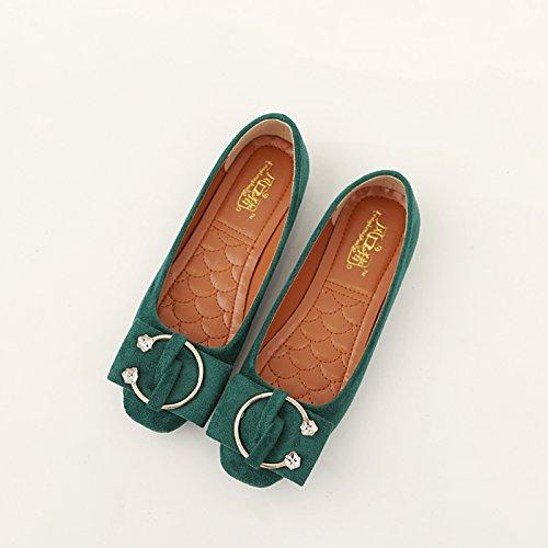 Xue Zapatos la Mujer Zapatos de con Qiqi de Planos Zapatos Boca Mam Individuales de Zapatos Redondos Planos Baja de Corte qtrt15f