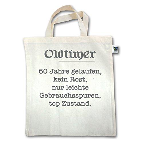 Geburtstag - 60. Geburtstag Oldtimer Fun Geschenk - Unisize - Natural - XT500 - Jutebeutel kurzer Henkel