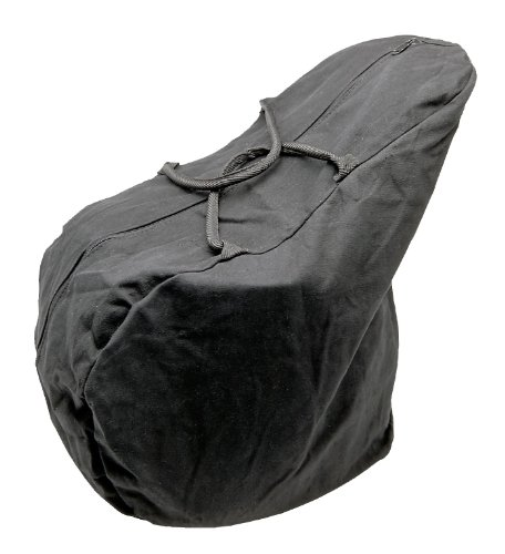 Tough 1 Canvas English Saddle Carrying Bag, Black