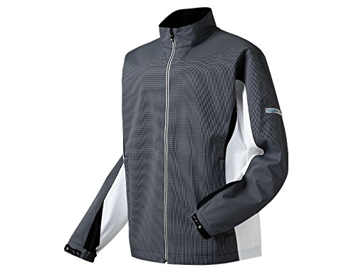 FootJoy Hydrolite Rain Jacket Black/White Check XXL (Small, Black/White)