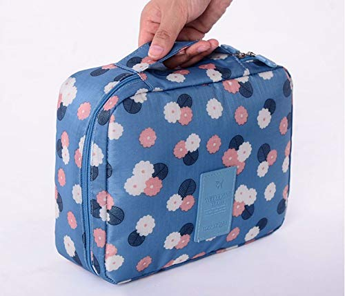 Yu2d  Travel Cosmetic Makeup Toiletry Case Bag Wash Organizer Storage Pouch Handbag -