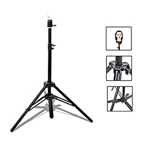 Wig Stand Tripod, Adjustable Tripod, Stand Tripod for Mannequin Head Tripod Stand Holder for Hairdressing (Black)