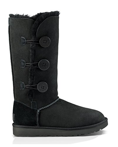 UGG Women's Bailey Button Triplet II Winter Boot, Black, 9 B ()