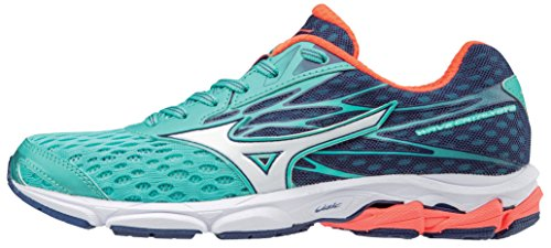 Women Running Control Shoes Motion (Mizuno Women's Wave Catalyst 2 Running Shoe, Turquoise/Fiery Coral, 9 B US)