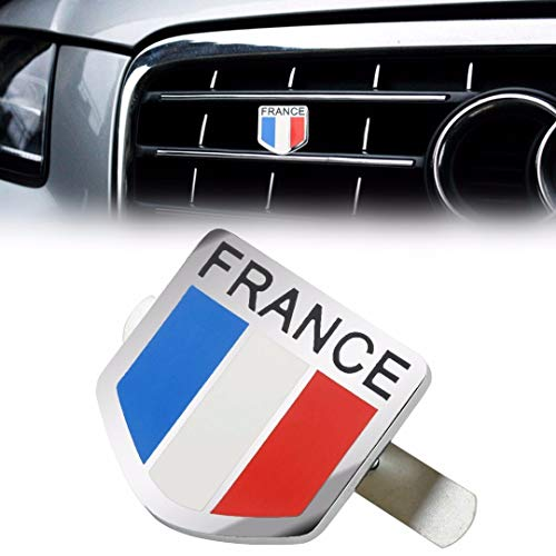 Tamiko - JX-LCLYL Metal France French Flag Car Front Grill Grille Emblem Badge Sticker Decal ()