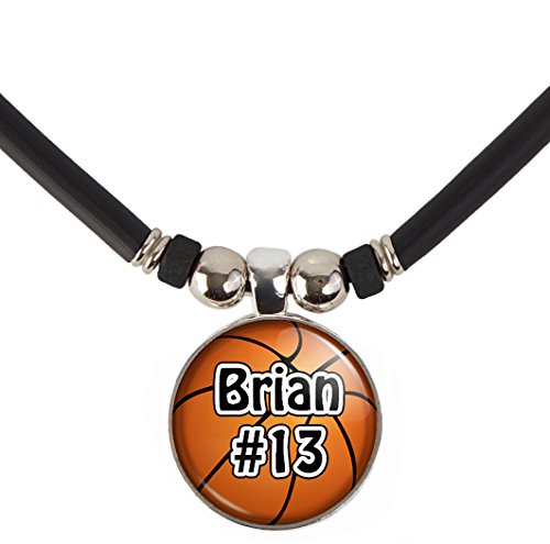 SpotlightJewels Customized Basketball  Necklace with Your Name and Number- Perfect for Basketball Players, Basketball moms, Basketball Teams and Coaches