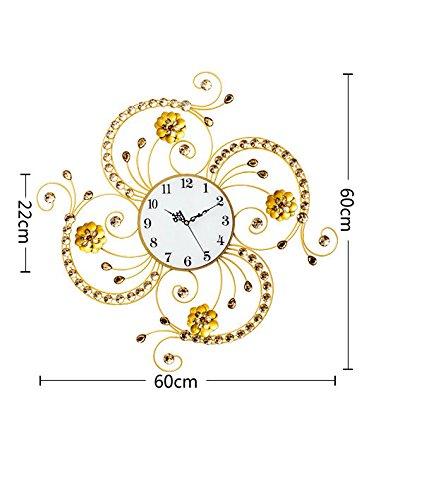 RFVBNM Classic patterns QUARTZ CLOCKS Wall Clock Drawing creative continental modern minimalist decor personality mute clock art hang 6060cm Table