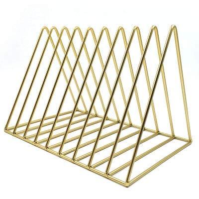 Simple metal Triangle Newspaper rack bookshelf Magazine rack living room study Storage decoration ()