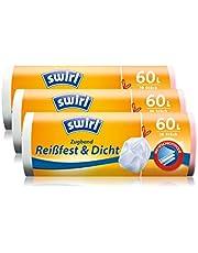 Swirl afvalzak met trekband, 60 liter, 3 rollen met elk 10 zakken, wit