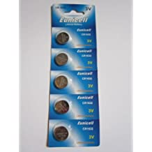 5 Pcs CR1632 CR 1632 - 3V Eunicell Lithium Button Cell Battery Batteries - BRAND NEW IN FACTORY PACKAGING
